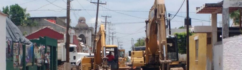 Avanzan los trabajos en la calle Francisco Pérez