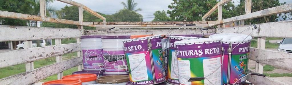 Citrofrut dona 50 cubetas de pintura para espacios púbicos