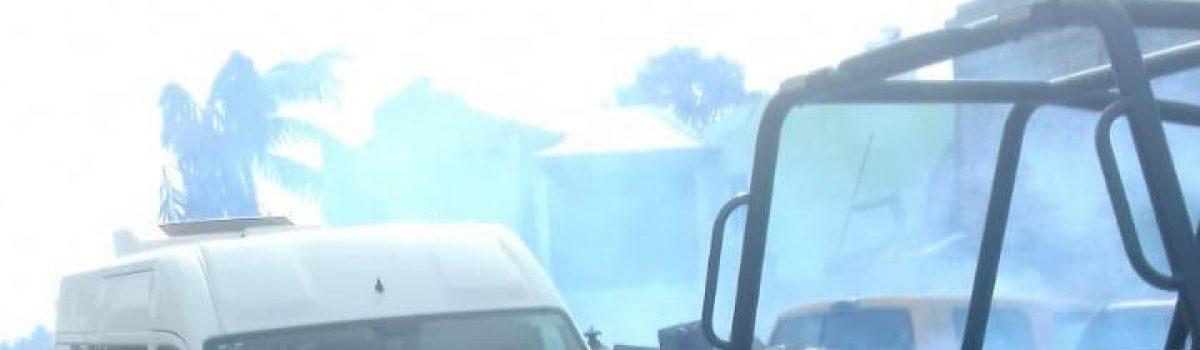 Limpieza y fumigación en almacén municipal.