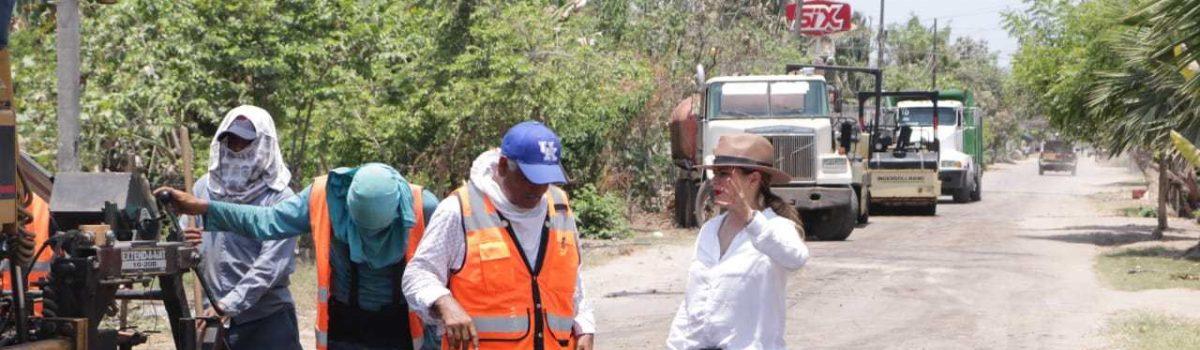 Supervisa Presidenta Municipal diversas obras en comunidades del Municipio.