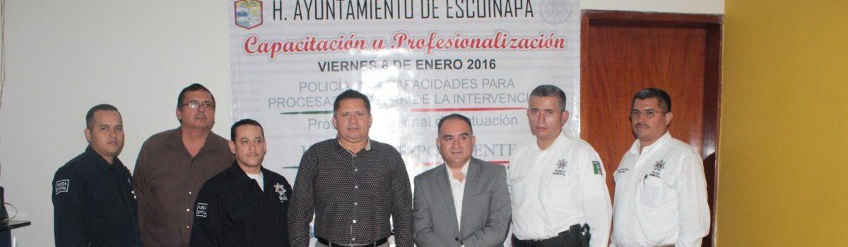 Escuinapa pionero en capacitación de Policías en el nuevo sistema penal acusatorio