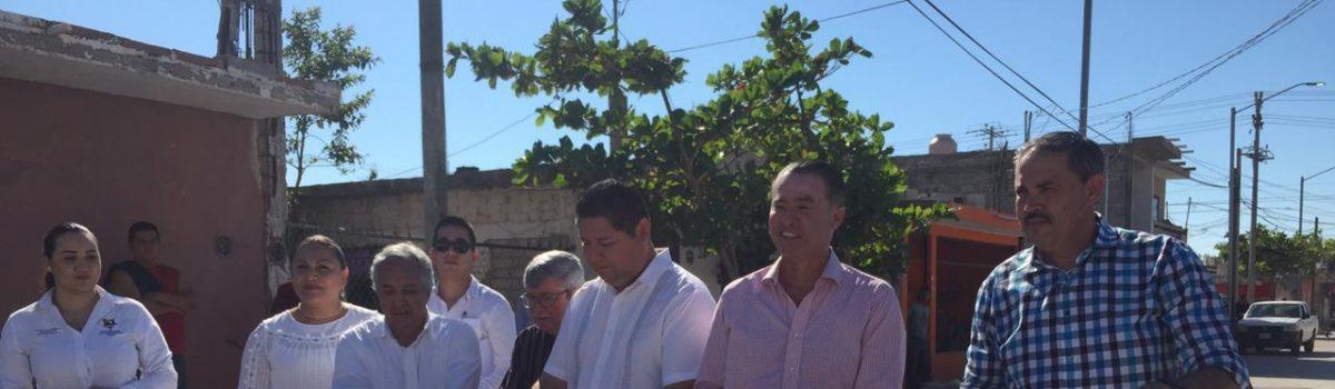 Inauguran Gobernador y Alcalde prolongación Miguel Hidalgo.