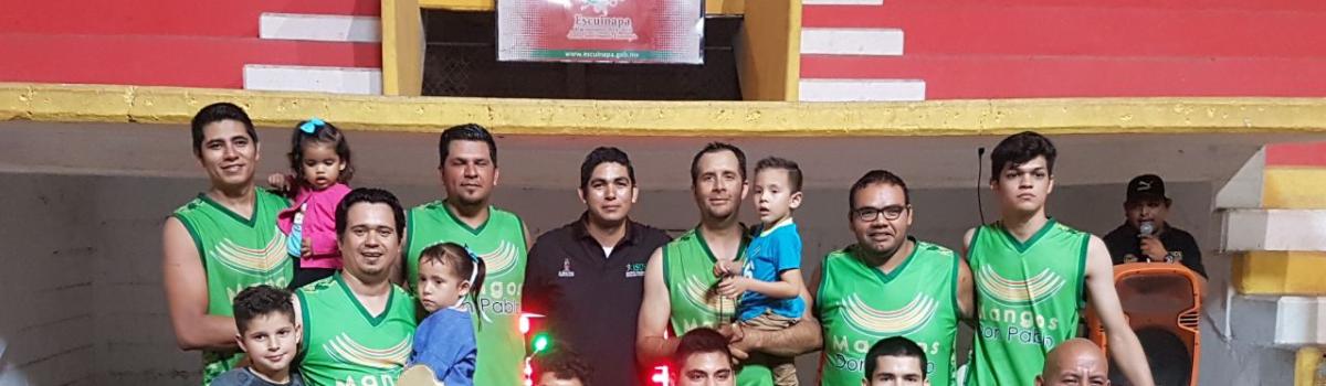 Finaliza campeonato de segunda fuerza municipal de basquetbol, Mangos Don Pablo es el Monarca.