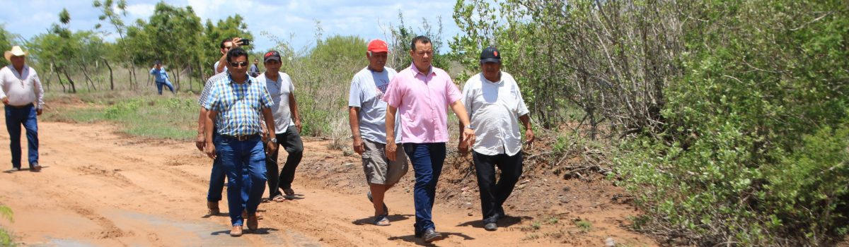 Alcalde anuncia rehabilitación de los caminos a los sitios pesqueros
