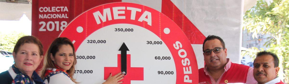 Escuinapa cumple meta de Cruz Roja en tiempo record.