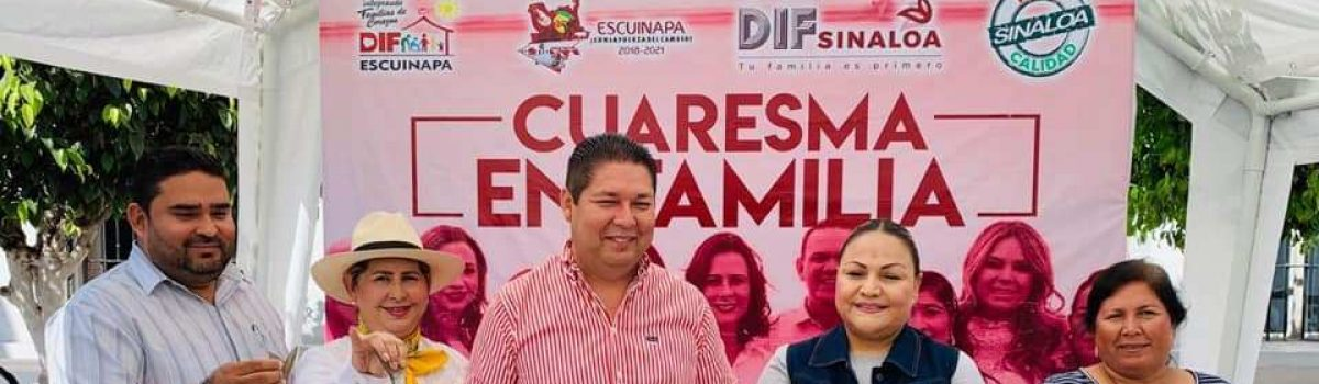 """Autoridades municipales arrancan programa de """"Cuaresma en Familia""""."""