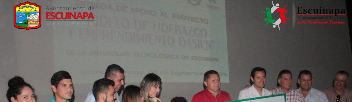 Estudiantes de UTEsc se benefician con el «Modelo de Liderazgo y Emprendimiento Dasien»