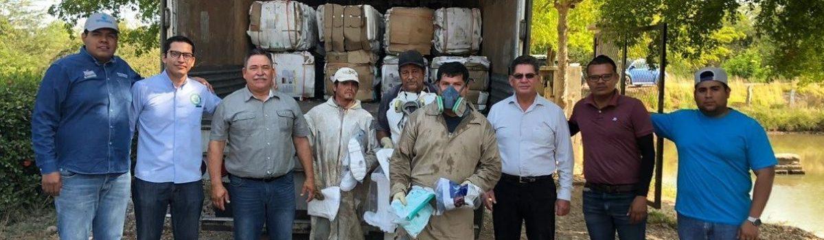 Ecología envía 18 toneladas de envases de agroquímicos para ser reciclados.