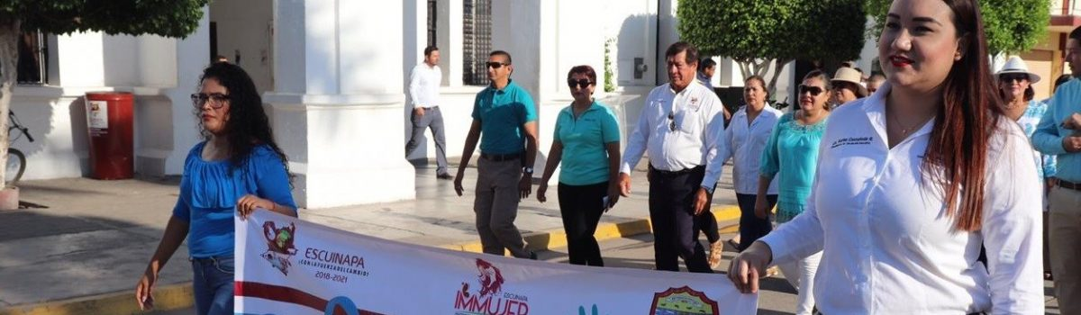 Exhorta Immujer denunciar trata de personas en el municipio; realiza marcha por principales calles de la Ciudad.