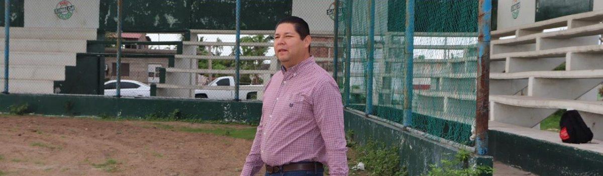 Gobierno municipal y PID´S invertirán más de medio millón de pesos en alumbrado de estadio de béisbol de Teacapán.