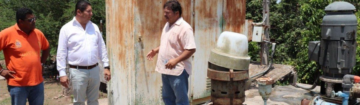 Recorre y supervisa Alcalde pozos que abastecen al municipio de agua potable.