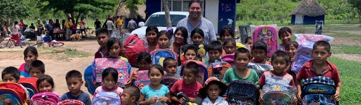 Alcalde recorre y visita comunidades del Tule, Arrayanes y Carbonera ubicadas en la sierra.