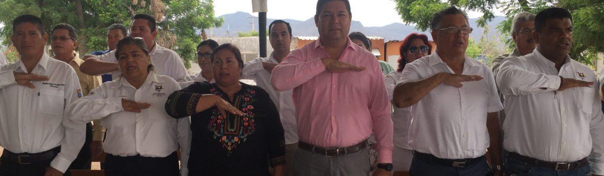 Encabezan autoridades municipales lunes cívico en la comunidad de Tecualilla.