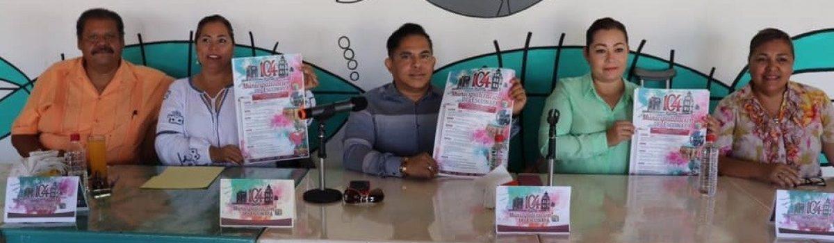 Gobierno municipal presenta programa para festejar los 104 aniversario de municipalización de Escuinapa.