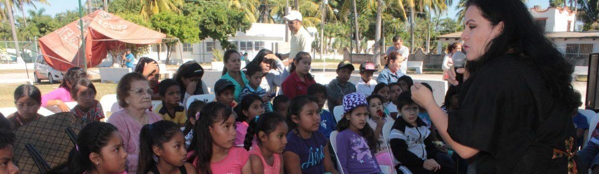 Niños del Valle de Escuinapa disfrutaron de Cuentacuentos