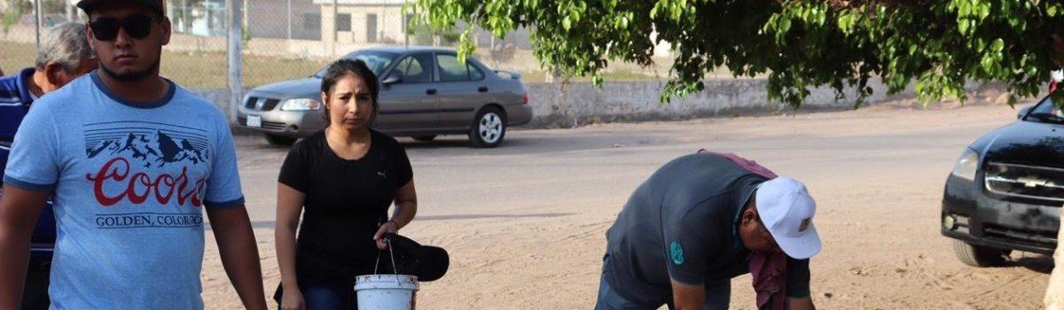 Encabeza Alcalde Décima Tercera Jornada de Limpieza, Rehabilitación y Embellecimiento de Espacios Recreativos en colonia Morelos, de la sindicatura de Isla del Bosque.