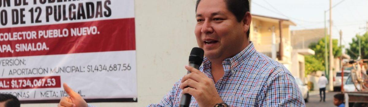 Anuncia presidente municipal paquete de 20 obras de asfaltado para la cabecera municipal.