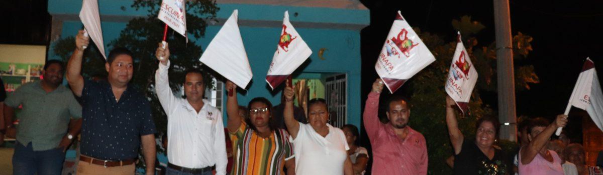 Gobierno municipal continúa con banderazos de obra en la colonia Pueblo Nuevo.