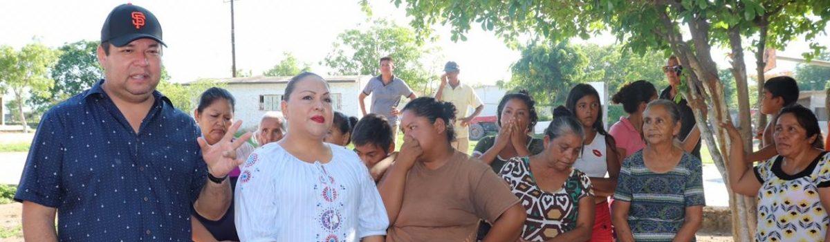 Cumplirá gobierno municipal con prioridades de agua potable y vialidad en el Rincón del Verde.