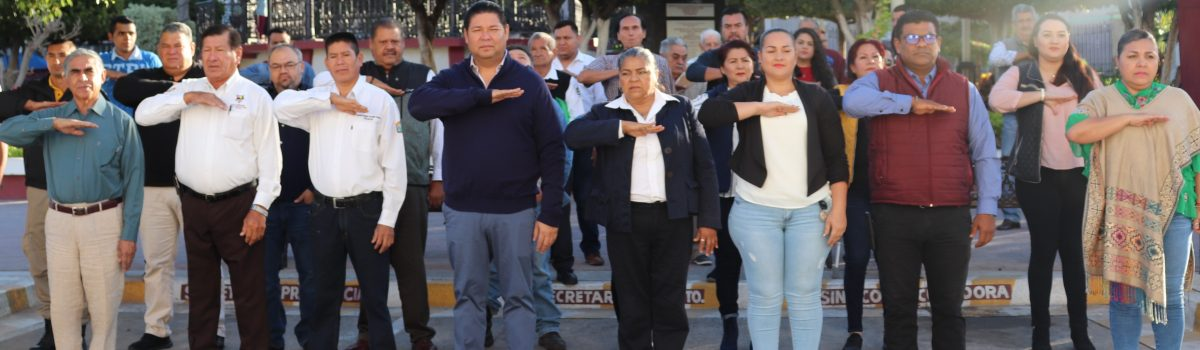 Gobierno municipal conmemora 105 aniversario de la Ley Agraria en México.