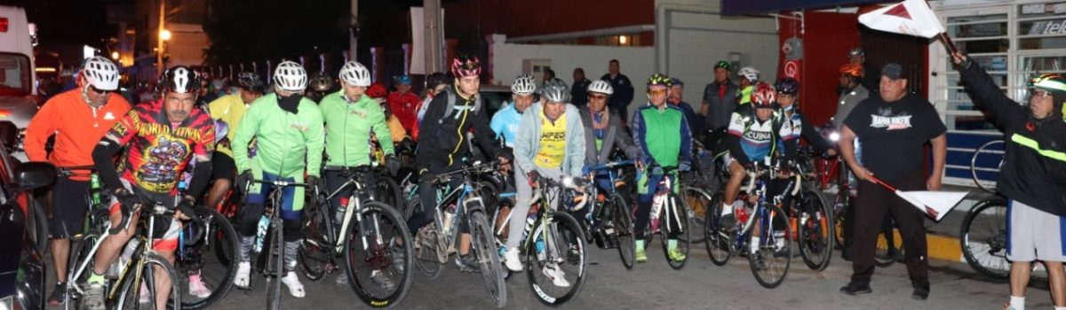 Peregrinan más de 200 ciclistas a Huajicori al celebrarse el Día de la Candelaria.