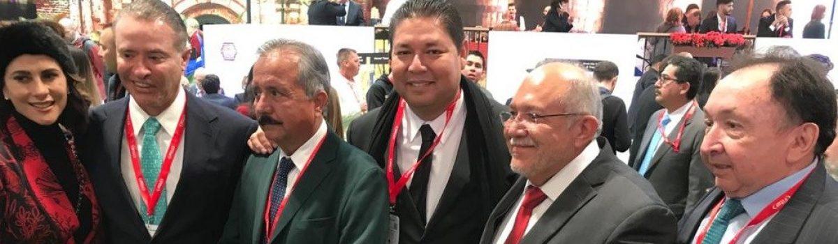 Asiste Soto Grave a inauguración de la Feria Internacional de Turismo 2020; estuvo acompañado del gobernador y los alcaldes de Mazatlán y Culiacán.