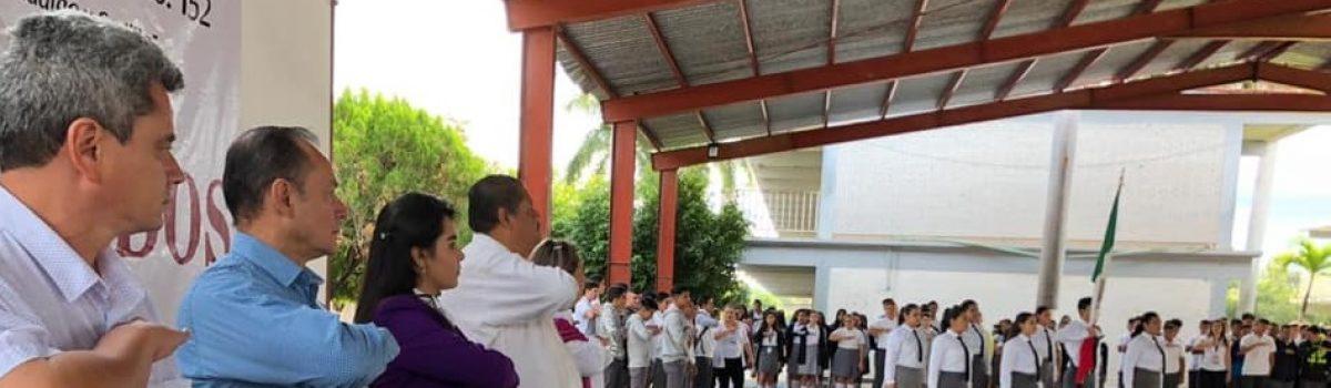 Apertura autoridades municipales semestre escolar de CBTIS 152.