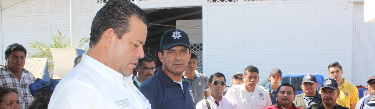 Moreno Guzman promete equipar a la policía municipal y exige compromiso con los ciudadanos.