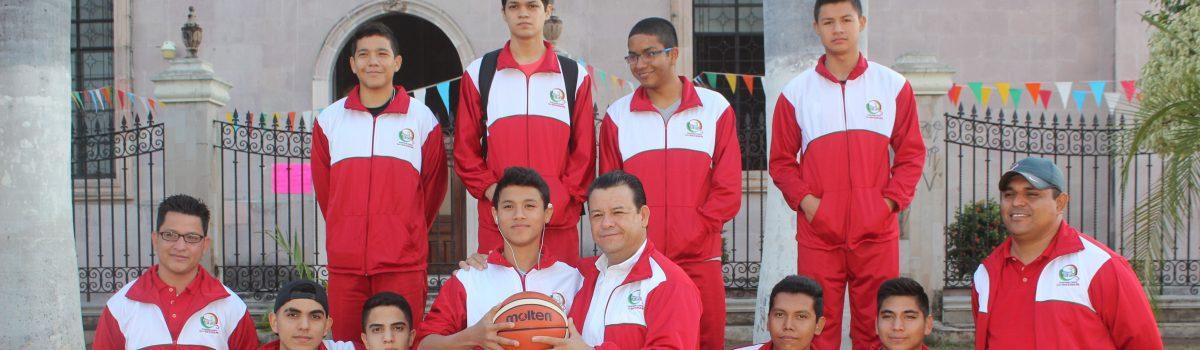 Despide alcalde a basquetbolistas que verán acción en la Olimpiada Estatal