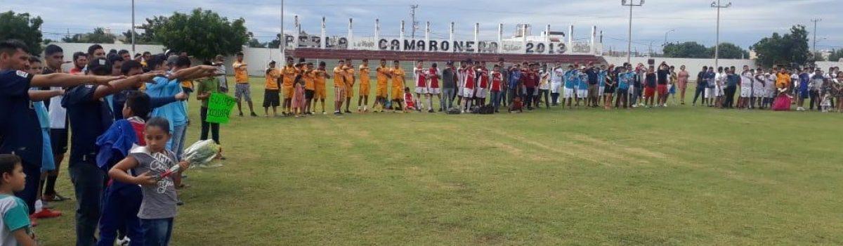 Participarán 14 equipos en torneo de fútbol de primera fuerza; autoridades municipales inauguran torneo.