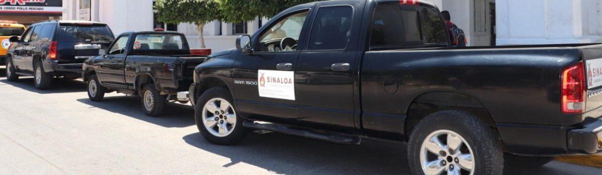 Se entregan vehículos a dependencias del H. Ayuntamiento de Escuinapa en comodato.