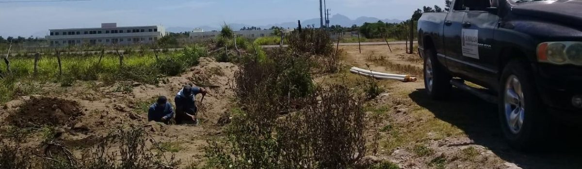 Culminan trabajos de instalación de tubería de agua en albergue de Teacapán.