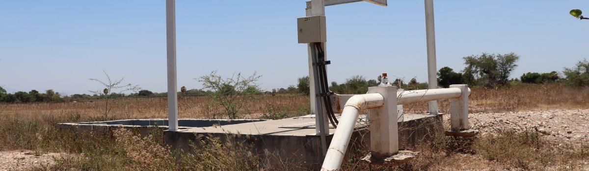 Gobierno de Escuinapa echará andar cárcamo de bombeo de laguna de oxidación en La Concha.