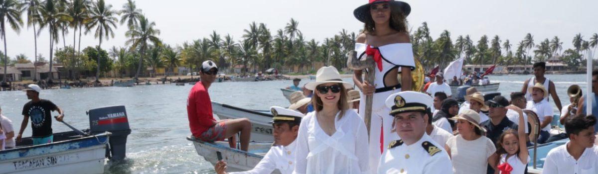 Celebran en Teacapán autoridades el Día Nacional de la Marina.