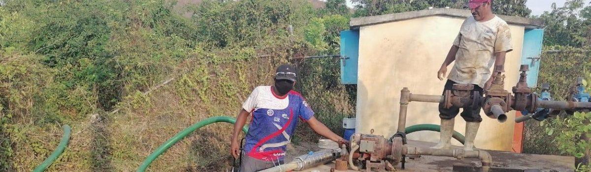 Jumapae instala equipo de bombeo en Ejido de La Campana.