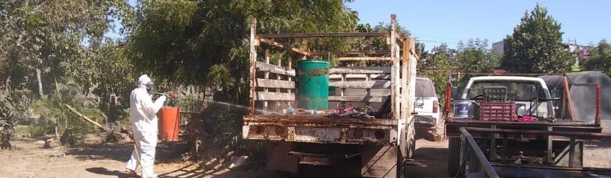 Gobierno municipal sanitiza inmuebles del H. Ayuntamiento.