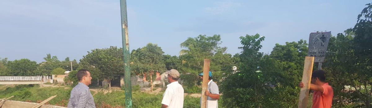 Retoman construcción de banqueta que conecta con el Hospital General