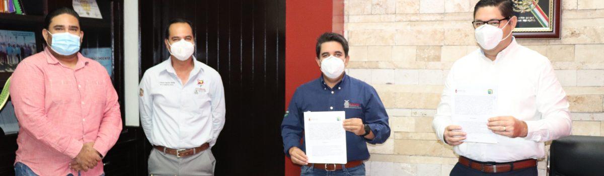 Firma de convenio de colaboración entre municipio y estado para aplicación del FISE 2020.