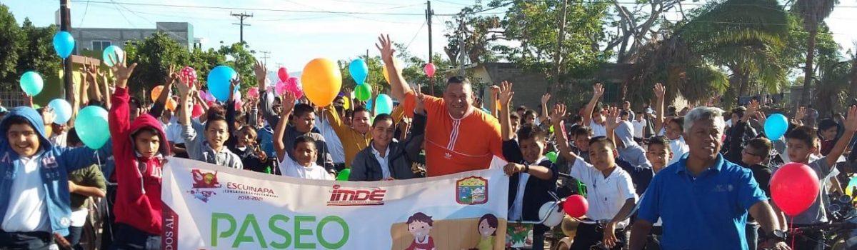 Realiza IMDE paseo ciclista en Colonia Morelos.