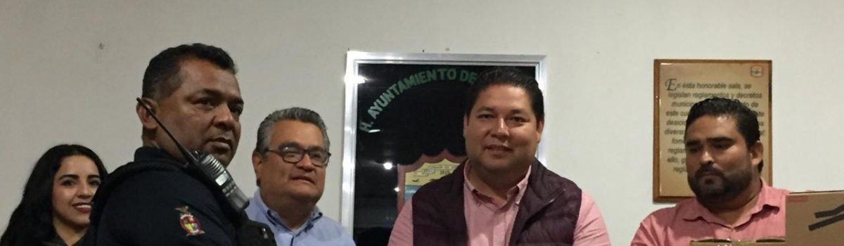 Entrega SESESP kits operativos de primer respondiente con valor 120 mil pesos en Escuinapa.