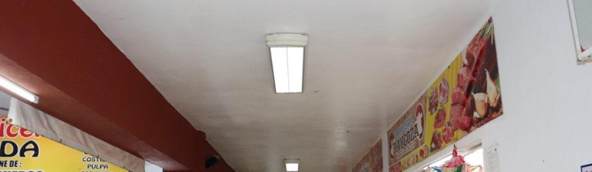 Se instalarán 64 lámparas led en el mercado municipal Miguel Hidalgo.