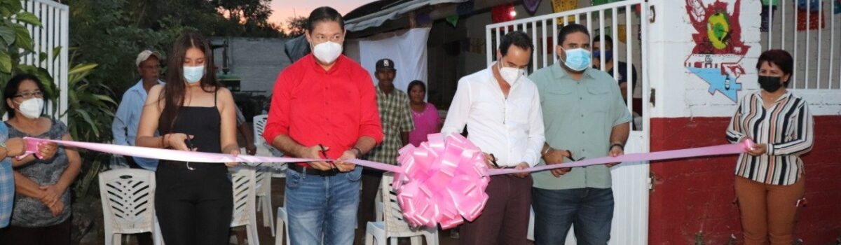 Soto Grave inaugura cuarto comedor municipal en la sindicatura de Isla del Bosque.