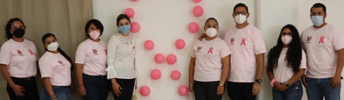 Alcalde de Escuinapa exhorta a mujeres a combatir el cáncer de mama, en el Día Mundial de la Lucha contra el Cáncer de Mama.